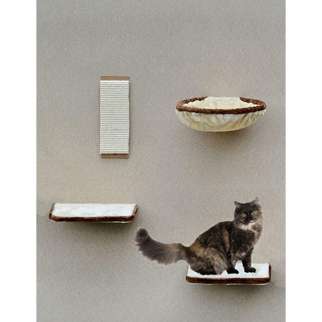 Silvio Design Katzen-Kletterwand 4-teilig beige-braun - Bild 1