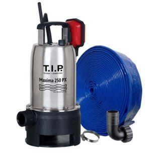 T.I.P. MAXIMA 250 PX Schmutzwasser-Tauchpumpe mit 10 m Ablaufschlauch Ø 32 mm - Bild 1