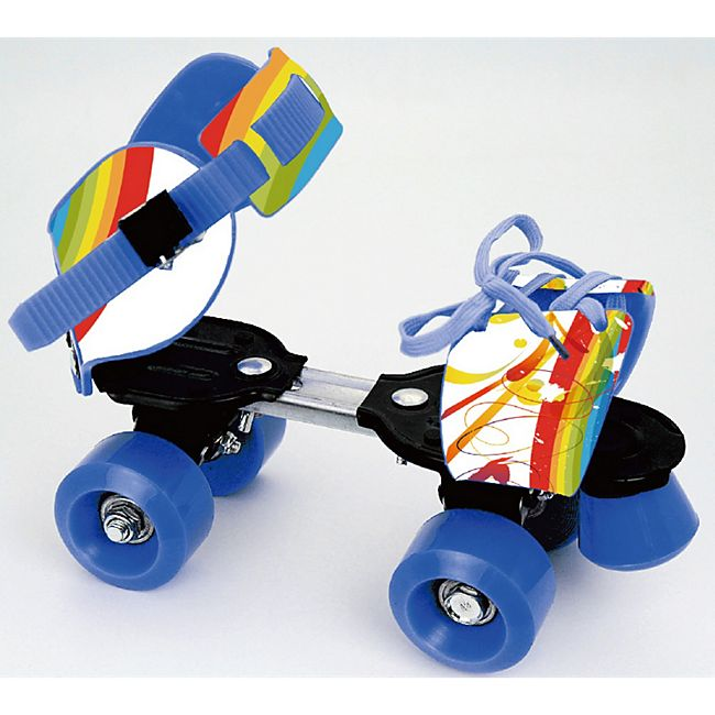 Rollschuhe verstellbar #28-37, 54x32 mm PVC, ABEC5 - Rainbow - Bild 1
