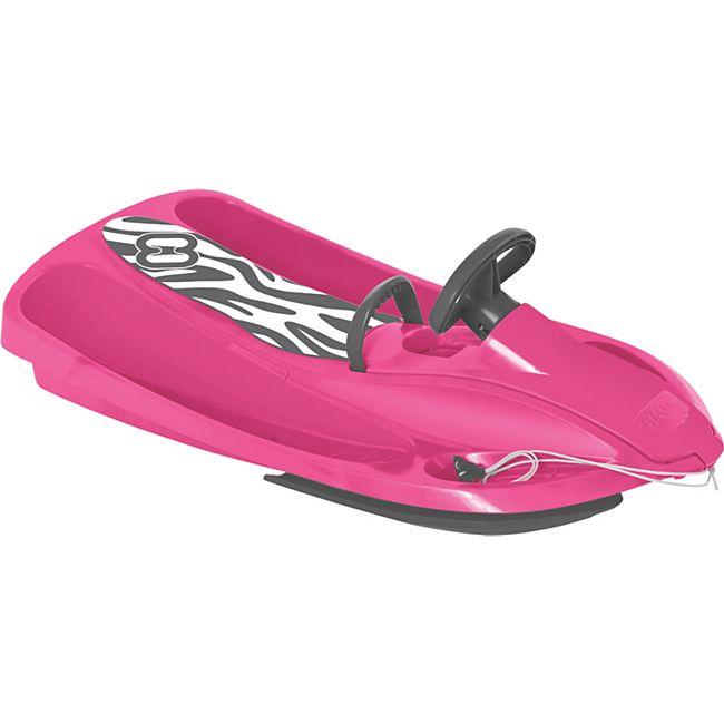 Hamax Sno Zebra Schlitten pink/grey - Bild 1