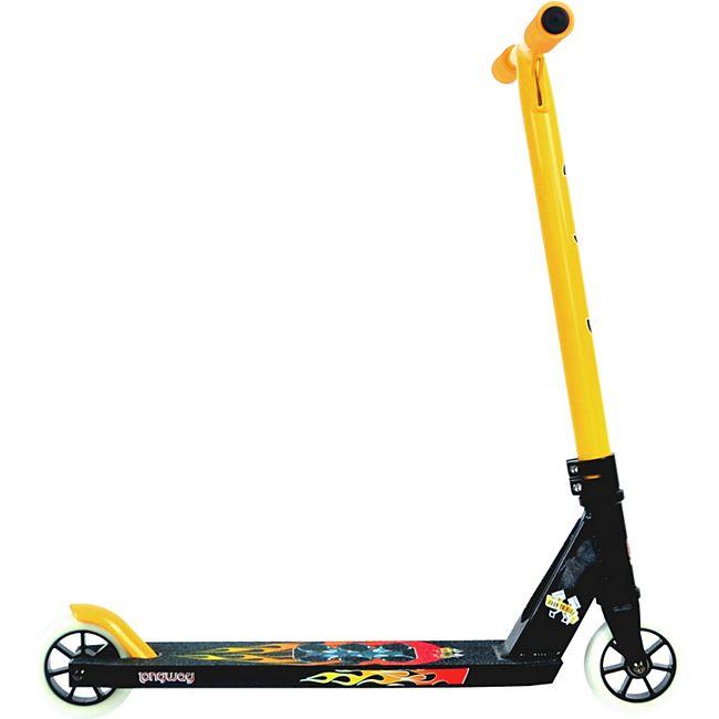"""Longway Stunt Scooter """"Born to ride"""" gelb - Bild 1"""