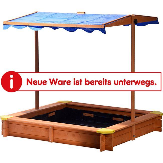 Dobar 94350FSC Sandkasten 117x117x117 cm, mit UV-Schutz - Bild 1
