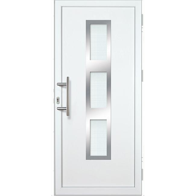 KM Meeth Kunststoff/Aluminium Haustür Modell KA630P links, nach innen öffnend - Bild 1