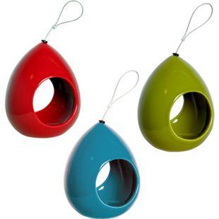 Luxus-Vogelhaus Keramik-Futterspender in Tropfenform - Bild 1