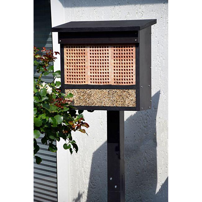 Dobar Profi-Insektenhotel, inkl. Pfahlständer und 3 Lärche-Nistblöcken - Bild 1
