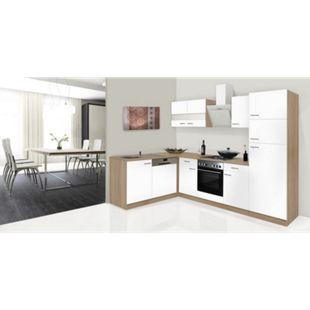 Respekta Winkelküche KBL280ESWS 280 cm Weiß-Eiche Sonoma Nachbildung - Bild 1