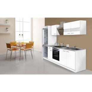 Respekta Küchenzeile KB270WWCGKE178 270 cm Weiß - Bild 1