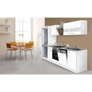 Respekta Küchenzeile KB280WWCGKE178 280 cm Weiß - Bild 1
