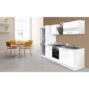 Respekta Küchenzeile KB300WWCGKE178 300 cm Weiß - Bild 1