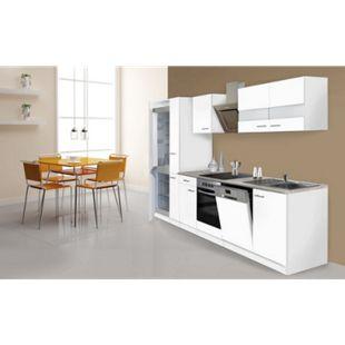 Respekta Küchenzeile KB310WWCGKE178 310 cm Weiß - Bild 1