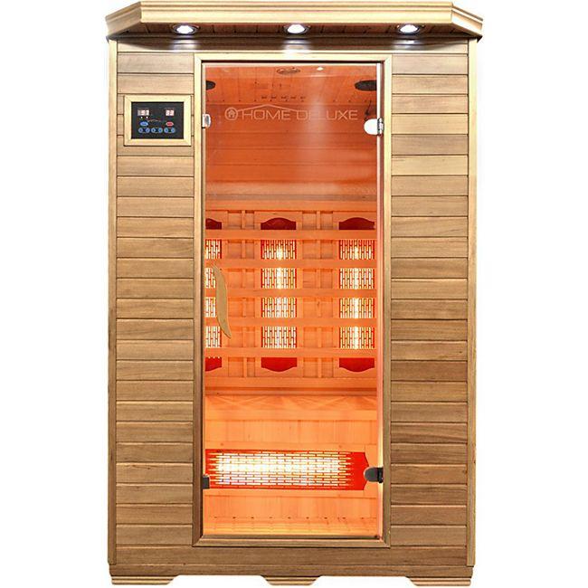 Home Deluxe Infrarotsauna Redsun M mit Vollspektrumstrahler - Bild 1
