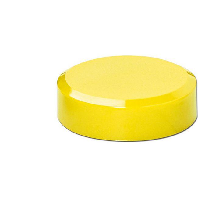MAUL Facetterand-Magnet MAULpro, Ø 30 x 10 mm, 0,6 kg Haftkraft, 20 St./Set - hellgelb - Bild 1