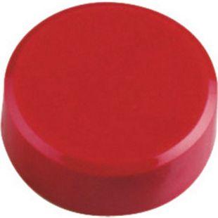 MAUL Facetterand-Magnet MAULpro, Ø 34 x 14 mm, 2 kg Haftkraft, 20 St./Set - rot - Bild 1