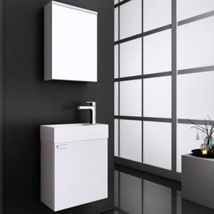 Home Deluxe Langeoog Badmöbel-Set, Weiß - Bild 1
