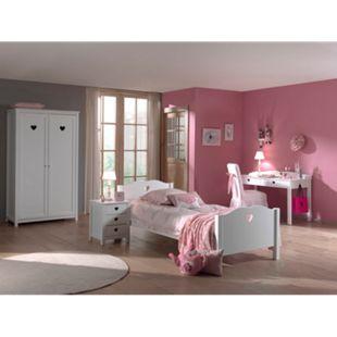 Vipack 4tlg. Set Amori bestehend aus: Bett, Nachtkommode, Kleiderschrank 2trg. & Schreibtisch - Bild 1