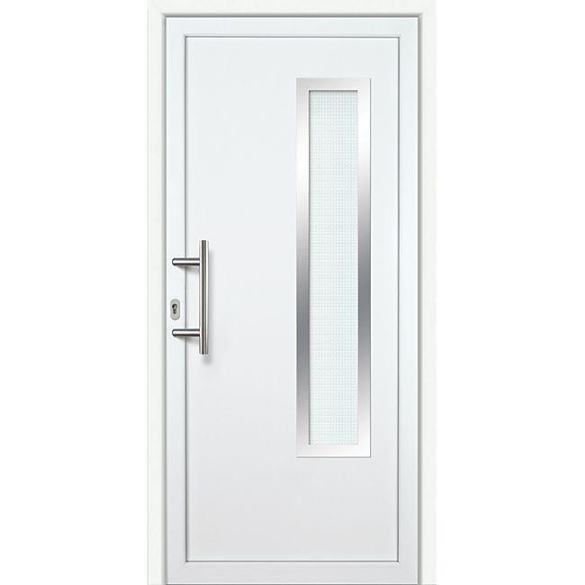 KM Meeth Kunststoff/Aluminium Haustür Modell KA637S2 links, nach innen öffnend - Bild 1