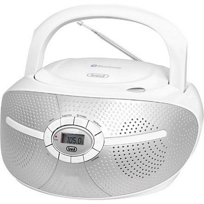 Trevi CMP 552 BT Stereo-Radio-CD-Player mit CD und Bluetooth - weiß - Bild 1