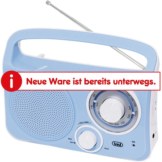 Trevi RA 762 portables 2 Band AM/FM-Radio im Vintage Design - blau - Bild 1