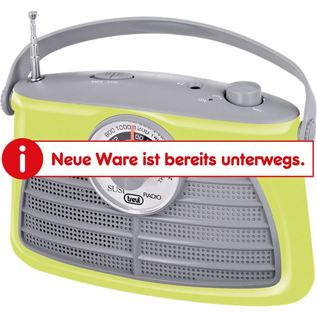 Trevi RA 763 V portables 2 Band AM/FM-Radio im Vintage Design - gelb - Bild 1