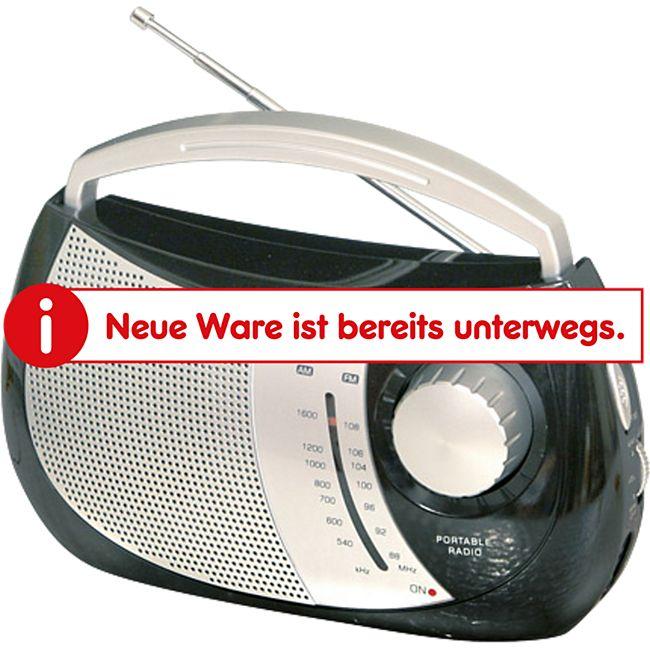 Trevi RA 764 portables 2 Band AM/FM-Radio im trendigen Design - schwarz - Bild 1