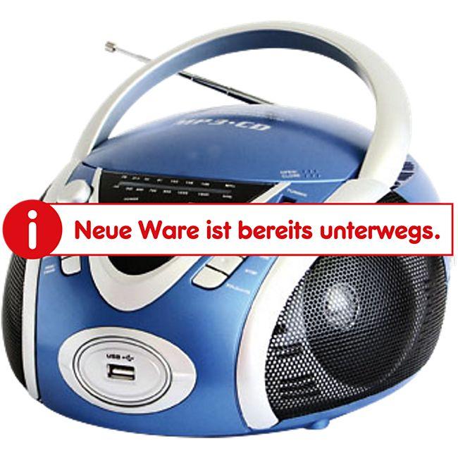 Trevi CMP 542 Boombox mit CD, MP3, FM-Radio - blau - Bild 1