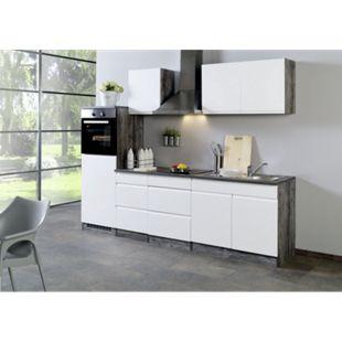 Held Möbel Küchenleerblock Cardiff 270 cm Hochglanz Weiß - Bild 1