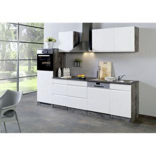 Held Möbel Küchenleerblock Cardiff 280 cm Hochglanz Weiß - Bild 1