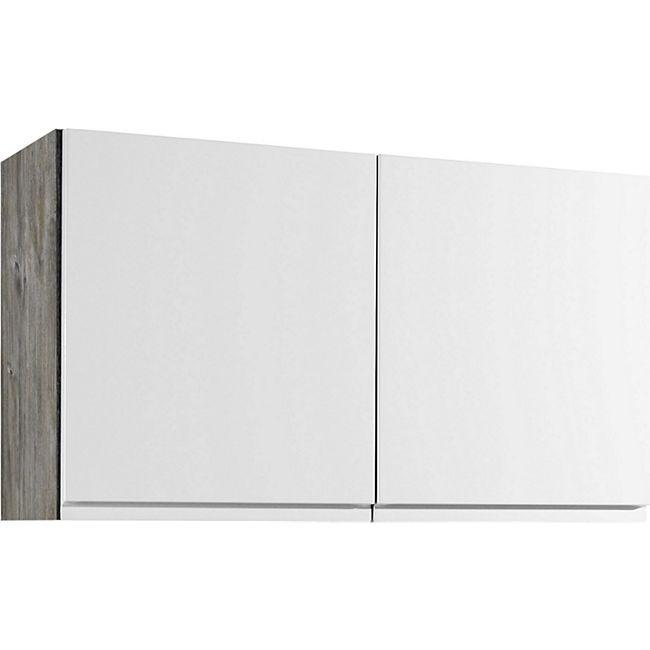 Held Möbel Hängeschrank Cardiff 100 cm Hochglanz Weiß - Bild 1