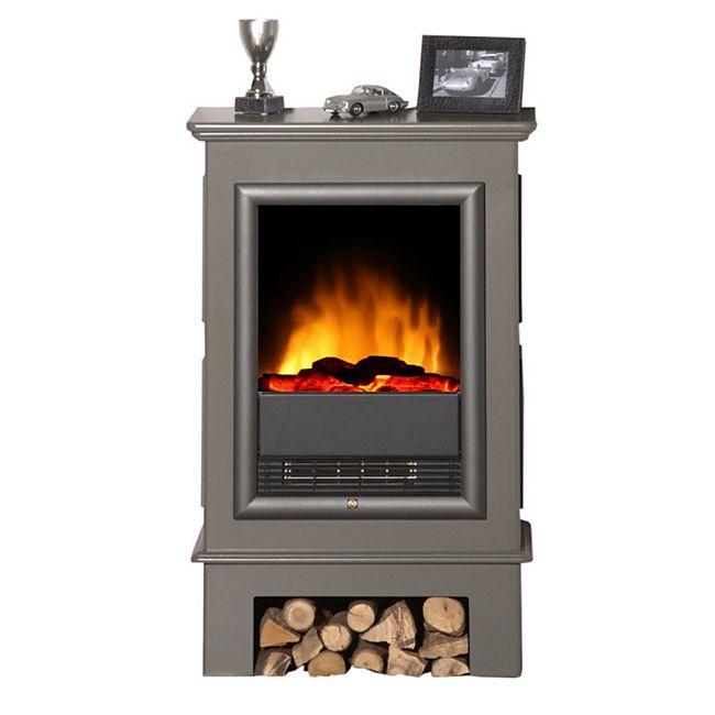 Albero Möbel Elektro-Scanfire-Ofen Topas, quarzgrau - Bild 1