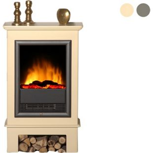 Albero Möbel Elektro-Scanfire-Ofen Topas, hellbeige - Bild 1