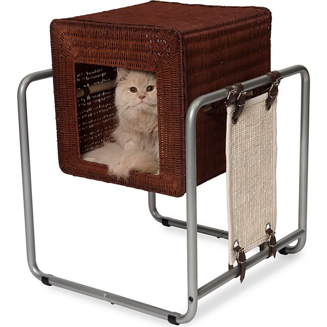 Vesper Katzenmöbel V-Cube rattan - Bild 1
