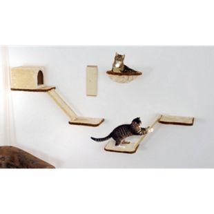 Silvio Design Katzen-Kletterwand 8-teilig beige - Bild 1