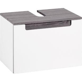 HELD Möbel Siena Unterbeckenschrank - 60 cm - Weiß/Eiche Rauchsilber - Bild 1