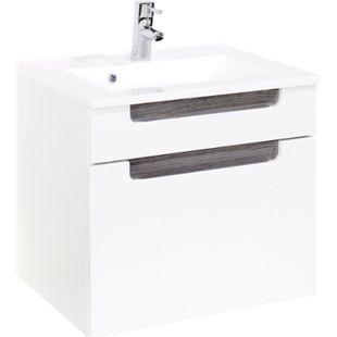 HELD Möbel Siena Waschtisch - 60 cm - Weiß/Eiche Rauchsilber - Bild 1