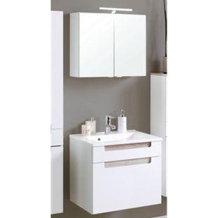 HELD Möbel Siena Waschtisch/Spiegel-Set - 60 cm - Weiß/Eiche Sonoma - Bild 1
