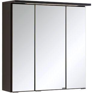 HELD Möbel Bologna 3D-Spiegelschrank - 60 cm - Graphitgrau - Bild 1