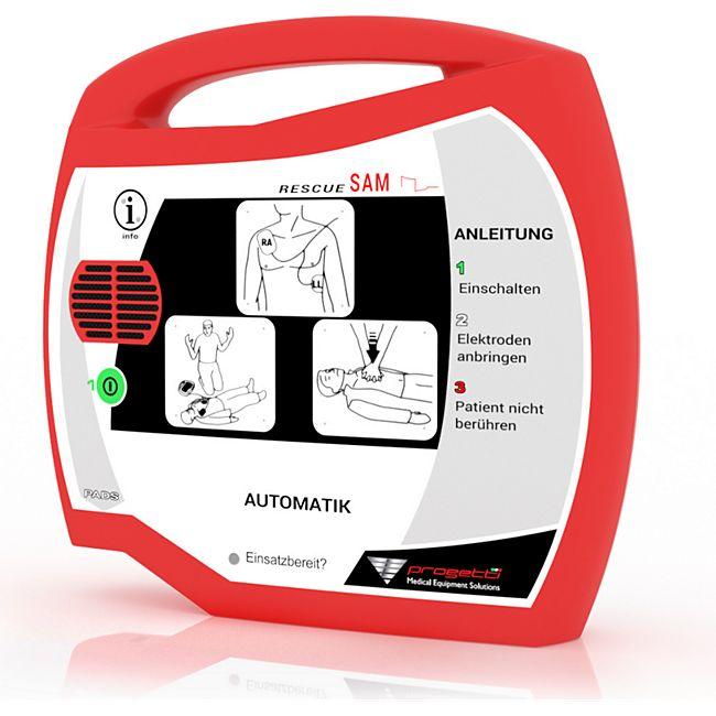 Progetti Rescue SAM AED Vollautomat mit Funktionstasche, 5 Jahre Hersteller-Garantie - Bild 1