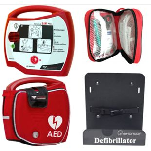 Progetti Rescue SAM AED Halbautomat mit Funktionstasche und Wandhalterung, 5 Jahre Hersteller-Garantie - Bild 1
