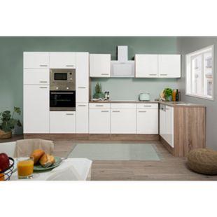 Respekta Winkelküche KBL370EYWMISGKE 370 cm Weiß-Eiche York Nachbildung - Bild 1