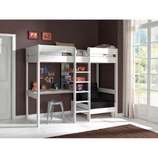 Vipack Furniture Hochbett Pino, weiß - Bild 1