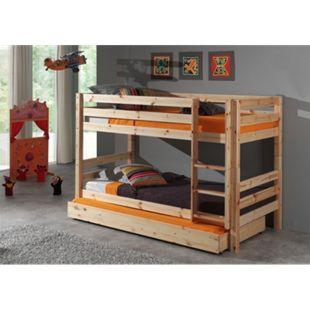 Vipack Furniture Hochbett Pino mit Bettschublade, natur - Bild 1