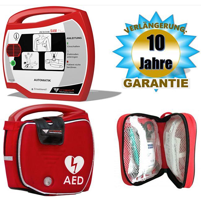 Progetti Rescue SAM AED Vollautomat mit Funktionstasche, 10 Jahre Hersteller-Garantie - Bild 1