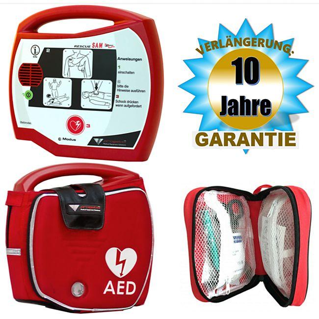 Progetti Rescue SAM AED Halbautomat mit Funktionstasche, 10 Jahre Hersteller-Garantie - Bild 1