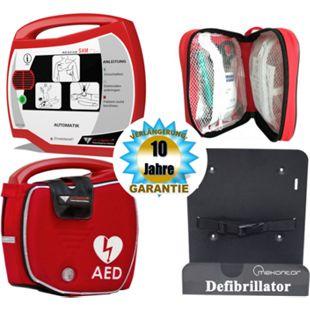 Progetti Rescue SAM AED Vollautomat mit Funktionstasche und Wandhalterung, 10 Jahre Hersteller-Garantie - Bild 1