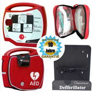Progetti Rescue SAM AED Halbautomat mit Funktionstasche und Wandhalterung, 10 Jahre Hersteller-Garantie - Bild 1