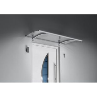 Gutta Pultvordach mit LED-Technik, 150 x 90 cm, Edelstahl - Bild 1