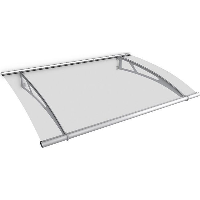 Gutta Typ XL Pultvordach Edelstahl, 205 x 142 cm, klar - Bild 1