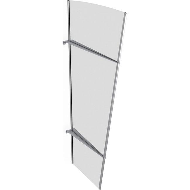 Gutta Typ XL Vordach-Seitenteil Edelstahl, 167 x 85 cm, klar - Bild 1