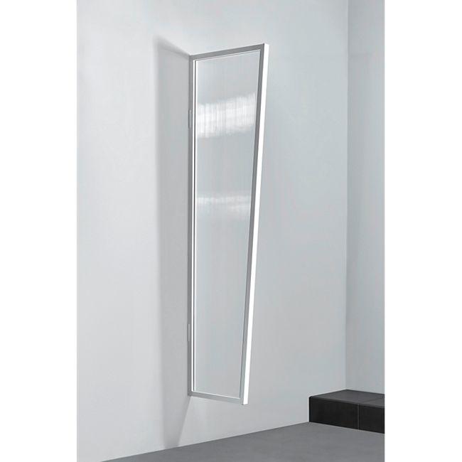 Gutta Typ B1/PC Vordach-Seitenteil klar, 200 x 60 cm, weiß - Bild 1