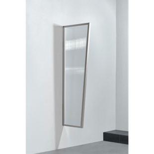 Gutta Typ B2/PC Vordach-Seitenteil klar, 175 x 60 cm, Edelstahl - Bild 1